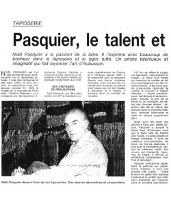 Pasquier: the talent and the inspiration