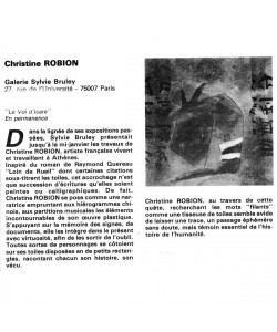 Robion at Galerie Sylvie Bruley