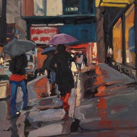Red Boots & Purple Umbrella