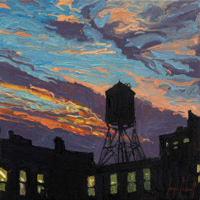 Tribeca Water Tower at Sunset